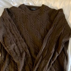 Barney's  wool and cashmere cable knit sweater